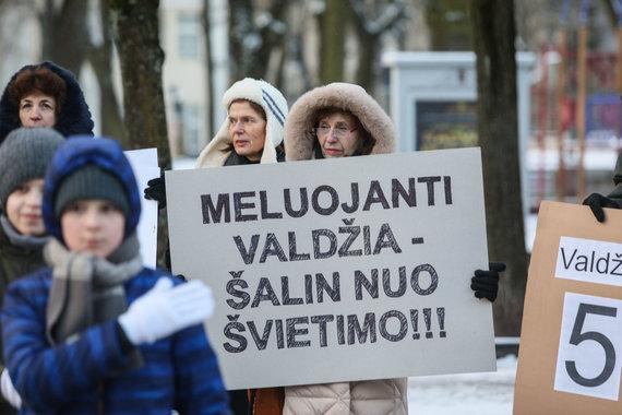 Eriko Ovčarenko / 15min nuotr./Piketas prie Kauno savivaldybės