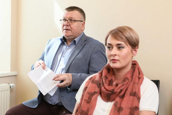 Eriko Ovčarenko / 15min nuotr./Gediminas Abeciūnas ir Daiva Gineikaitė (2018 m.)
