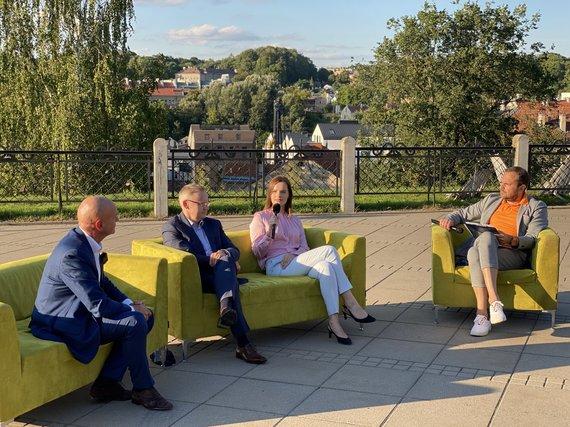 Andriaus Bagdono nuotr./Vilniuje rinkėjams prisistatė Liberalų Sąjūdžio kandidantai į Seimą vienmandatėse apygardose