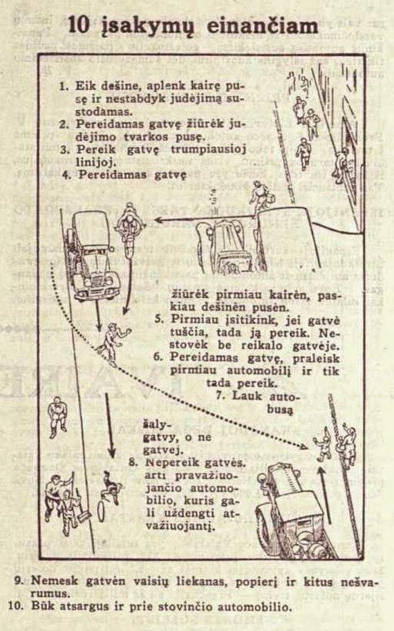 Asmeninio archyvo/Eismo taisyklės pėstiesiems (1932 m)