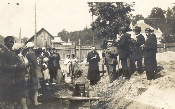 J.Ridzvanavičiaus nuotr./Kauno Lietuvos Didžiojo Kunigaikščio Vytauto mečetės statybos pradžia (1930 m.)