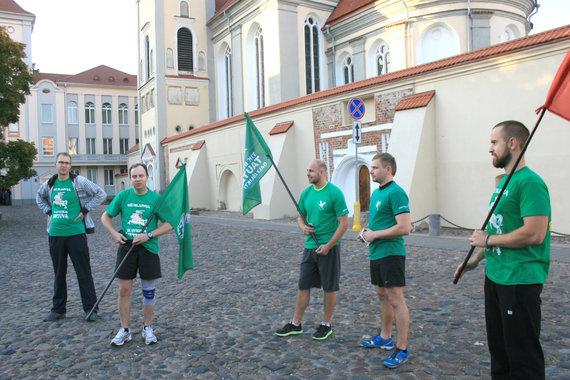 Bėgimo dalyviai