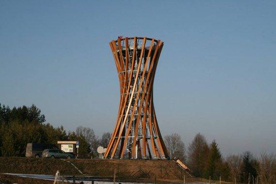 Metelių regioninio parko direkcijos nuotr./Apžvalgos bokštas Metelių regioniniame parke