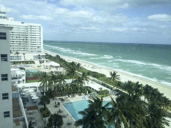 Justinos Butkutės nuotr./Majamio paplūdimiai žinomi visame pasaulyje