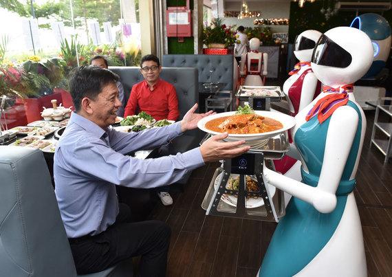 "Shutterstock.com/""Dalu robot"" restoranas"