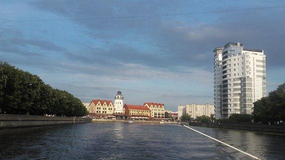 Vaido Mikaičio nuotr./Karaliaučiaus vaizdai plaukiant laivu Piegliaus upe