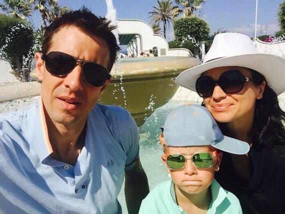 Asmeninės nuotr./Jurga Lukauskienė su vyru ir sūnumi