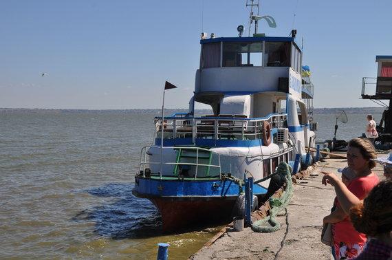 Asmeninė nuotr./Su tokiu laivu plaukėme Dniestro deltoje