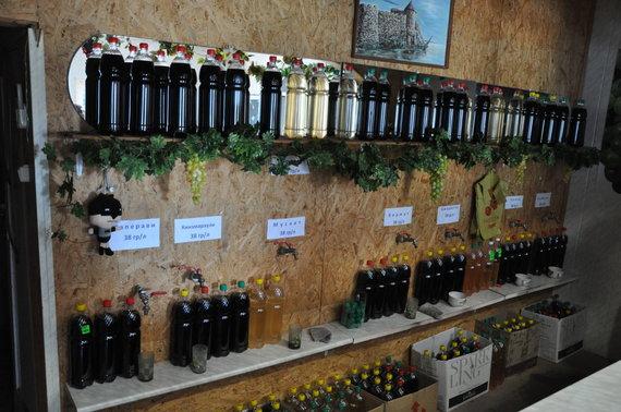 Asmeninė nuotr./Besarabijos vynai ir jų kainos
