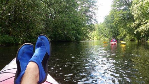 """""""Active Trips"""" nuotr./Plaukimas baidarėmis Žeimenos upe"""