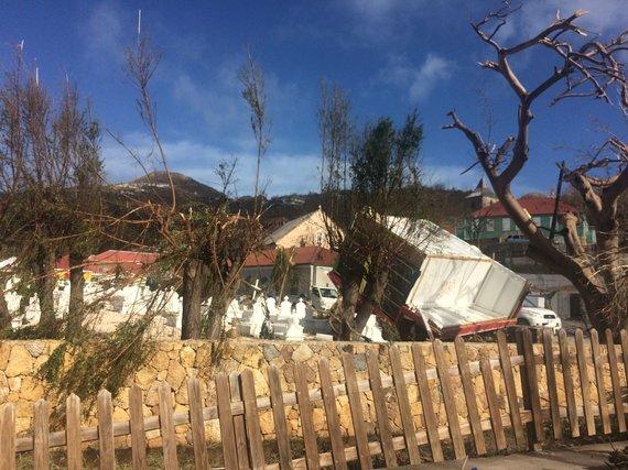 Asmeninė nuotr./Šv. Bortolomėjaus sala po ją nusiaubusio uragano Irma