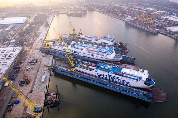 Bendrovės nuotr./Vakarų laivų gamyklos dokai