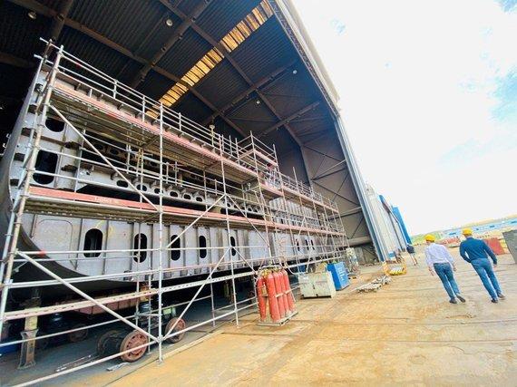 """Bendrovės nuotr./""""Vakarų laivų gamykloje"""""""
