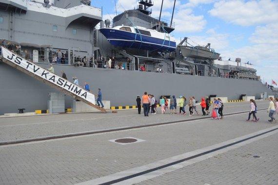 Karinių jūrų pajėgų nuotr./Klaipėdoje vieši Japonijos karo laivai