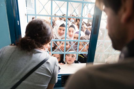 H.Ghanem nuotr./Mergaičių mokykla Hebrone