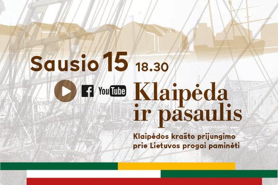 Organizatorių nuotr./Klaipėdos krašto prijungimo prie Lietuvos renginys vyks nuotoliniu būdu
