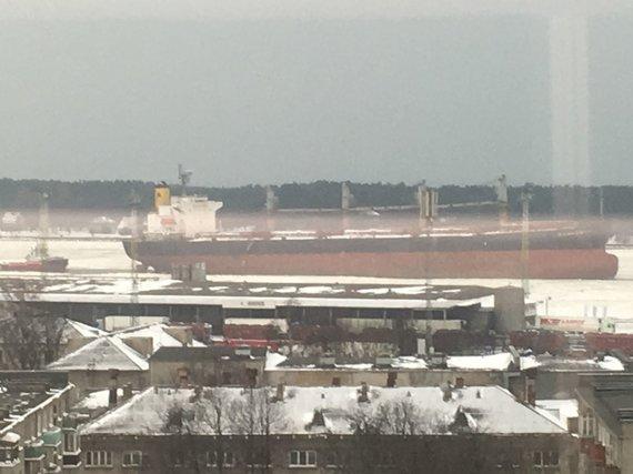 """Uosto direkcijos nuotr./Laivas """"Ocean Crown""""."""