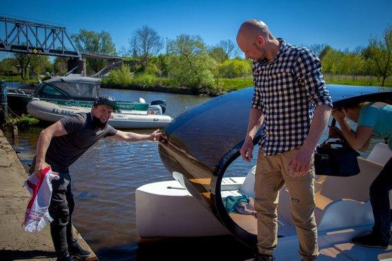 """KMTP nuotr./Tomo Vėliaus sukurtas """"Popa Boat"""" jau ištestuotas Danėje."""
