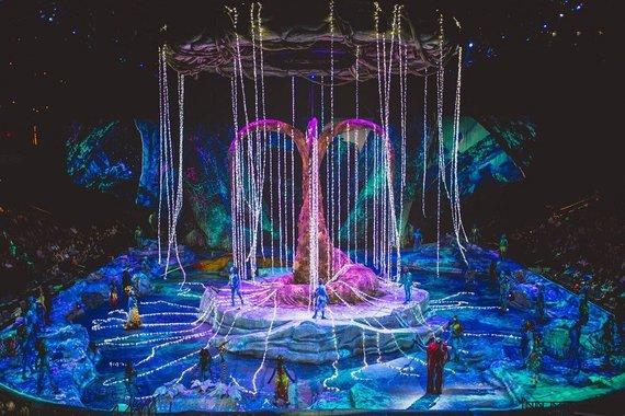 "Šou ""Toruk – the First Flight"" akimirka/""Cirque du Soleil"""