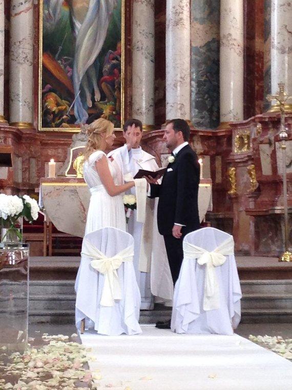 Mariaus Žičiaus/Žmonės.lt nuotr. /Antano ir Aistės Guogų bažnytinė santuoka