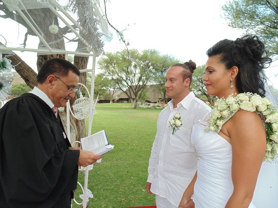 Asmeninio albumo nuotr./Andriaus Pauliukevičiaus ir Ilkos Adams vestuvės Namibijoje