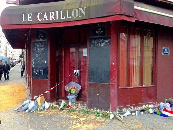 Asmeninio albumo nuotr./Paryžiaus kavinė, kurioje įvykdytas kruvinas išpuolis