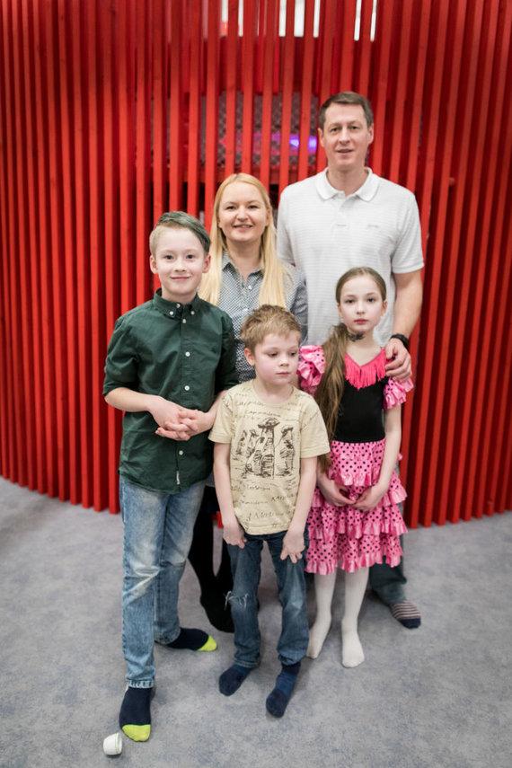 Rima Olberkytė-Stankus su šeima