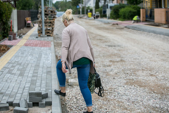 Juliaus Kalinsko / 15min nuotr./Palangoje tvarkoma Maironio gatvė