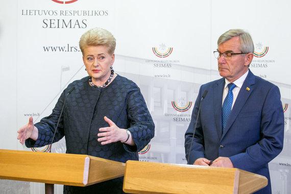 Juliaus Kalinsko / 15min nuotr./Dalia Grybauskaitė ir Viktoras Pranckietis