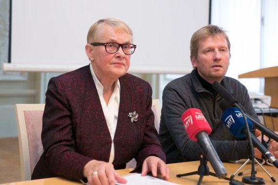 Juliaus Kalinsko / 15min nuotr./Viktorija Daujotytė-Pakerienė ir Nerijus Milerius