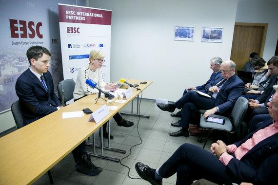 Juliaus Kalinsko / 15min nuotr./Ingrida Šimonytė pristatė užsienio politikos viziją