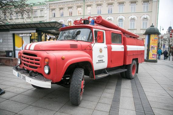 Juliaus Kalinsko / 15min nuotr./Savivaldybių ugniagesių gelbėtojo mitingas
