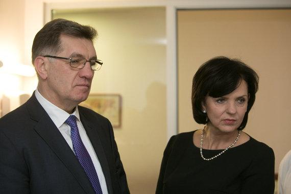 Juliaus Kalinsko/15min.lt nuotr./Algirdas Butkevičius su žmona Janina