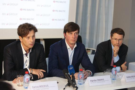 Juliaus Kalinsko/15min.lt nuotr./Iš kairės: Darius Mockus, Algirdas Čiburis, Vaidas Mickus