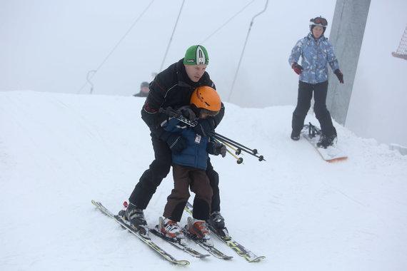 Juliaus Kalinsko / 15min nuotr./Liepkalnio slidinėjimo trasoje