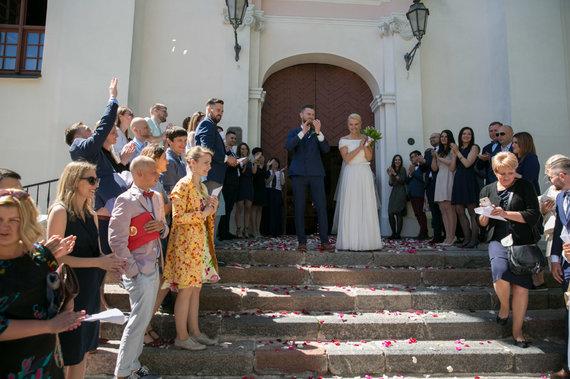 Juliaus Kalinsko / 15min nuotr./Andriaus Palionio ir Rūtos Stasiulytės vestuvių akimirka