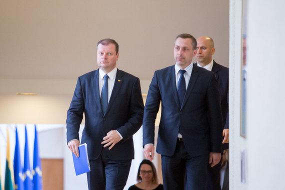 Juliaus Kalinsko / 15min nuotr./Saulius Skvernelis, Tomas Beržinskas