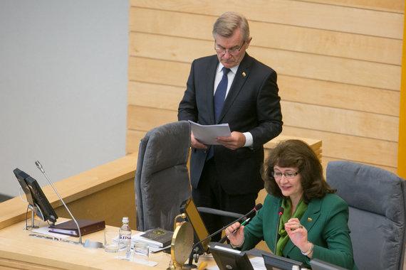 Juliaus Kalinsko / 15min nuotr./Viktoras Pranckietis ir Vida Baškienė