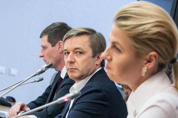 Juliaus Kalinsko / 15min nuotr./Paskutinė Gretos Kildišienės spaudos konferencija Seime