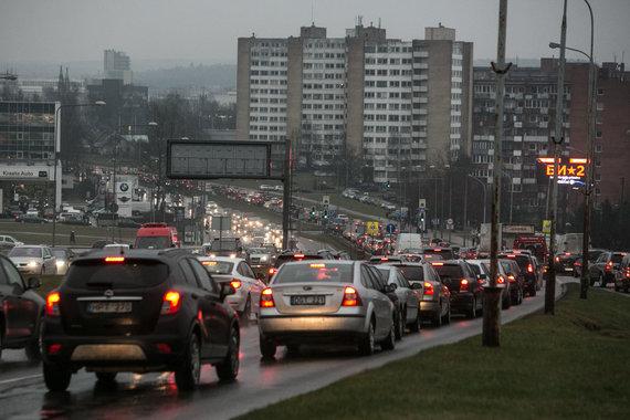 Transporto spūstis Vilniuje