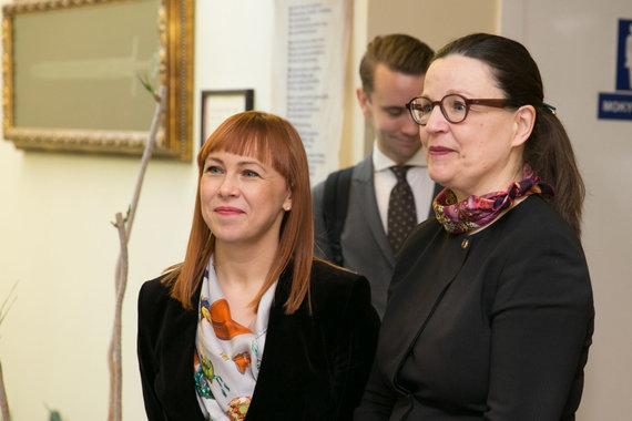 Juliaus Kalinsko / 15min nuotr./Jurgita Petrauskienė ir Anna Ekström
