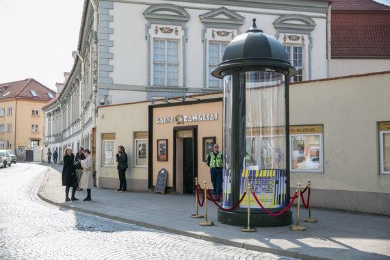 Juliaus Kalinsko / 15min nuotr./Pedro Reyes kūrinio pristatymas Vilniuje