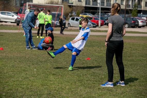 Juliaus Kalinsko / 15min nuotr./Vaikų gatvės futbolo turnyras Vilniuje
