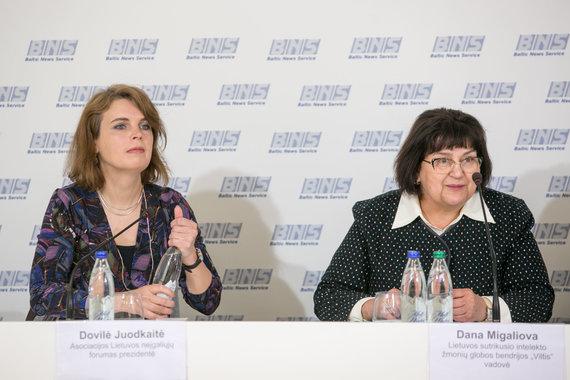Juliaus Kalinsko / 15min nuotr./Dovilė Juodkaitė ir Dana Migaliova