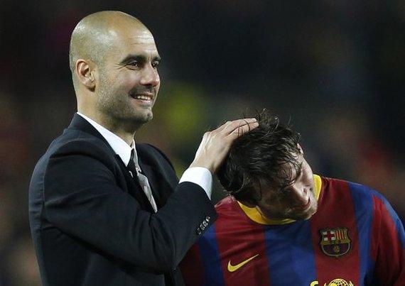"""""""Scanpix"""" nuotr./P.Guardiola ir L.Messi prieš dešimtmetį."""