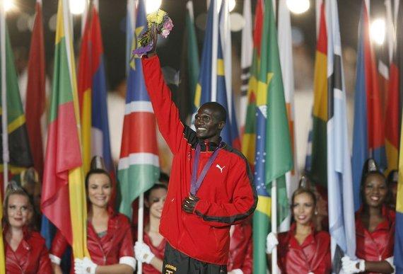 """""""Scanpix"""" nuotr./Stephenas Kiprotichas iš Ugandos laimėjo aukso medalį maratono bėgime"""