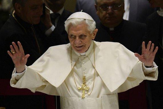 """AFP/""""Scanpix"""" nuotr./Popiežius Benediktas XVI"""