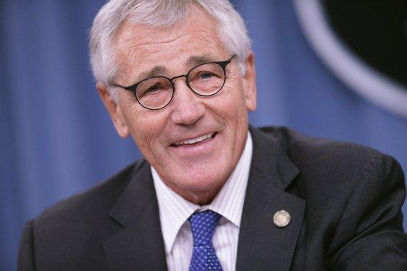 """AFP/""""Scanpix"""" nuotr./Buvęs JAV gynybos sekretorius Chuckas Hagelis"""