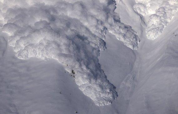 """""""Reuters""""/""""Scanpix"""" nuotr./Sniego lavina Šveicarijoje"""