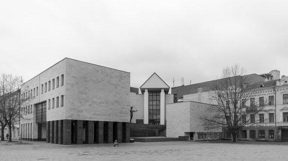 Norbert Tukaj nuotr. /Žilinsko dailės galerija, architektas Eugenijus Miliūnas ir kiti. 1988 m.